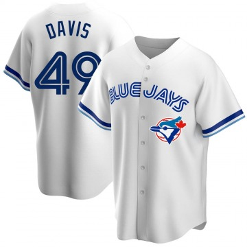 Replica Jonathan Davis Youth Toronto Blue Jays White Home Cooperstown Collection Jersey